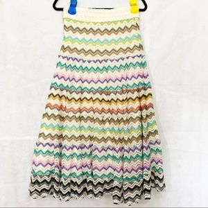 LAPIS Croquet Chevron Skirt